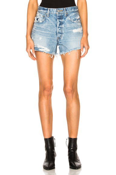 Hand Repaired Denim Shorts