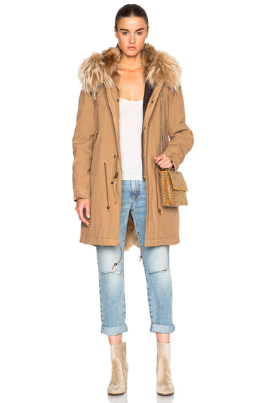 Army Parka Jacket With Coyote & Raccoon Fur