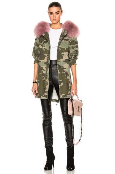 Midi Parka Jacket With Raccoon Fur
