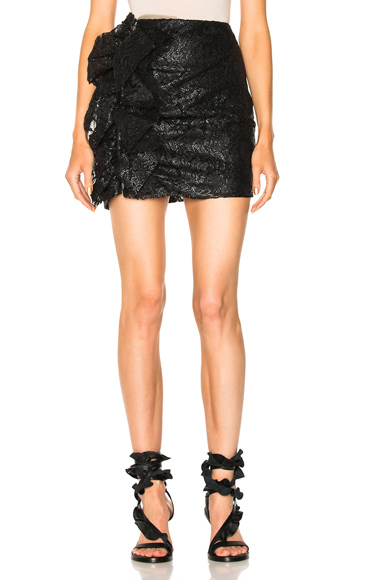 Rebrode Plated Lace Skirt