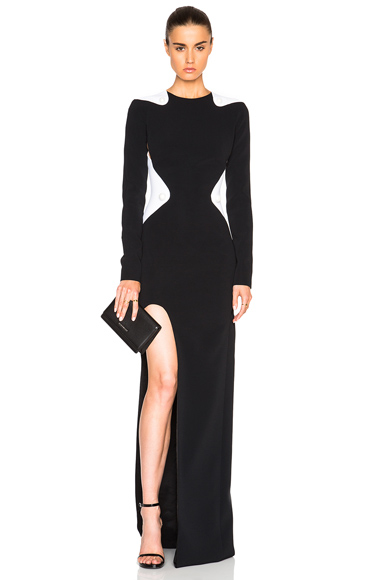 Bi Color Fitted Cady Gown