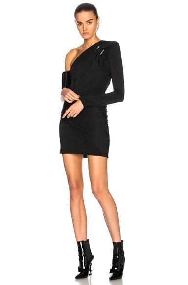 Fluid Jersey One Shoulder Mini Dress
