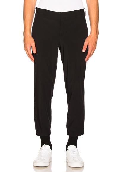 Nylon Hem Detail Trousers