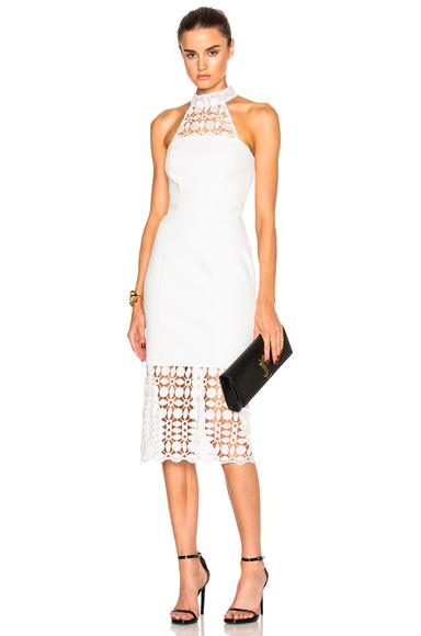 Mosaic Lace Halter Dress
