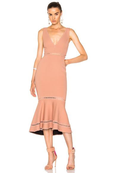 Bandage Plunge Midi Dress