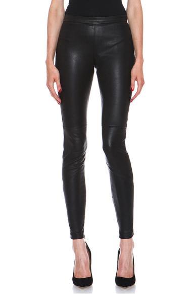 Stretch Leather Legging