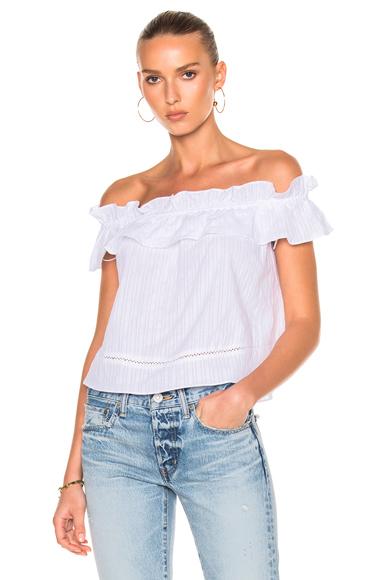 Cotton Voile Sofia Ruffle Top