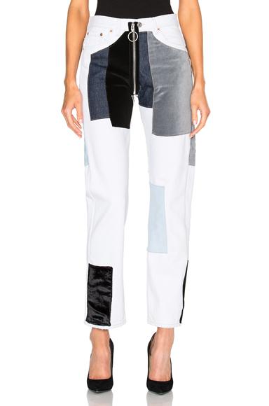 Velvet Patch Pocket Jeans
