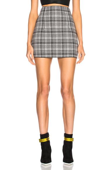 Zip Back Mini Skirt