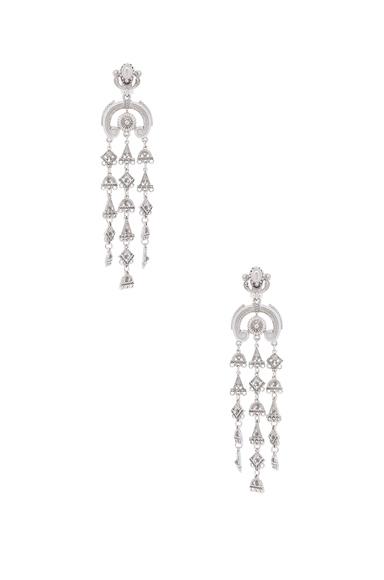 Ornate Charm Chandelier Earring
