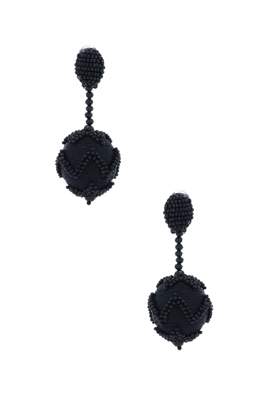 Beaded Chevron Ball Earring