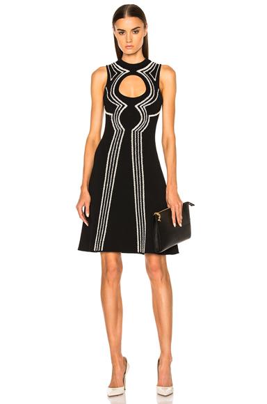 Intarsia Circle Cut Out Dress