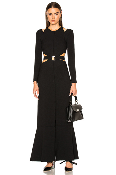 Lightweight Viscose Crepe Cut Out Gown