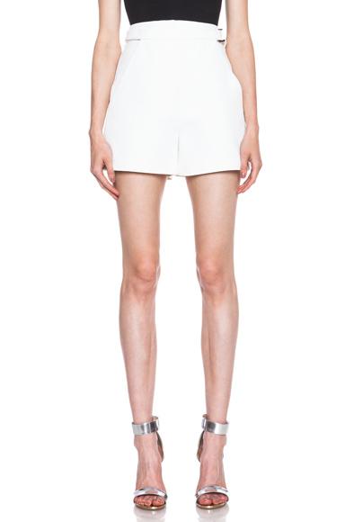 High Waisted Viscose-Blend Shorts