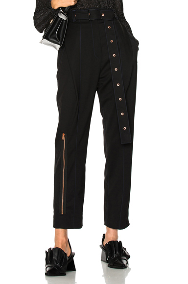Lightweight Wool Suiting Pleated Straight Pant
