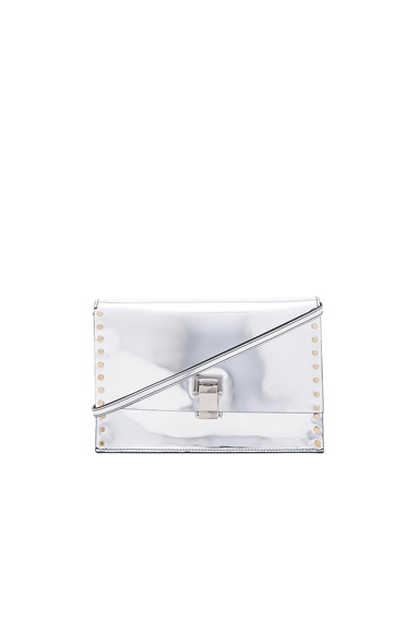 Small Studded Lunch Bag with Shoulder Strap