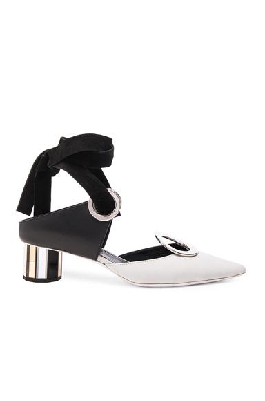 Grommet Leather Heels