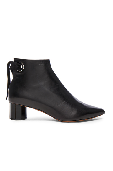 Leather Tie Boots