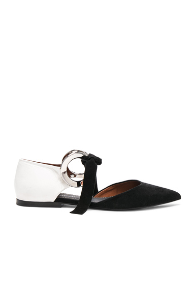 Suede Ankle Tie Flats