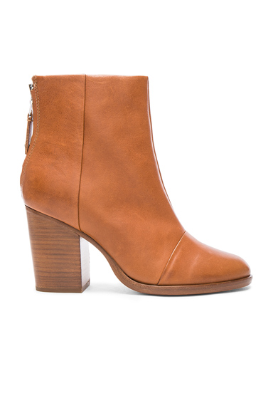 Leather Ashby Ankle High Boots