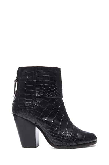 Classic Newbury Embossed Leather Boots