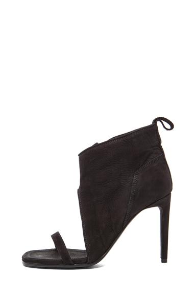 Suede Spike Sandal Wrap Heels