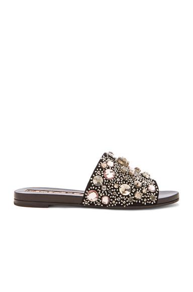 Crystal Suede Sandals