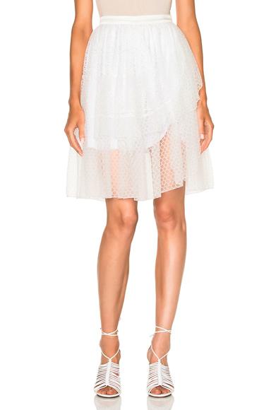 Lace Tiered Wrap Skirt
