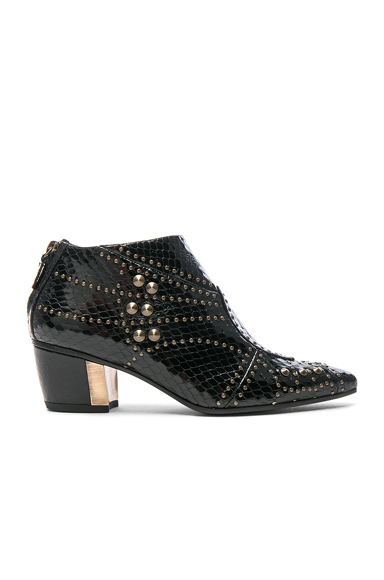 for FWRD Embossed Studded Leather Booties