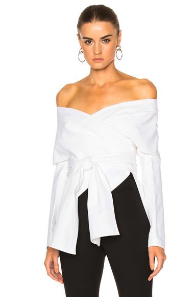 Cotton Faille Wrap Panel Jacket