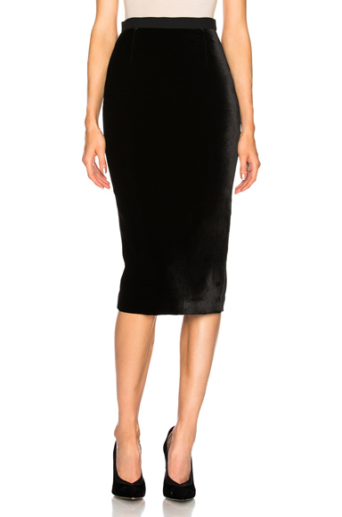 Arreton Velvet & Stretch Viscose Skirt