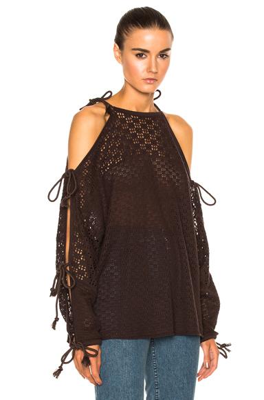 Open Shoulder Knit Pullover