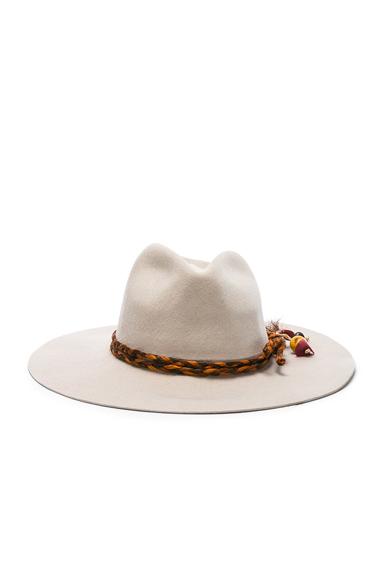 Classic Long Brim Hat with Cabuya Band Braid