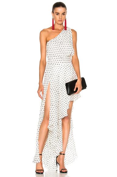 Georgette One Shoulder Asymmetrical Dress