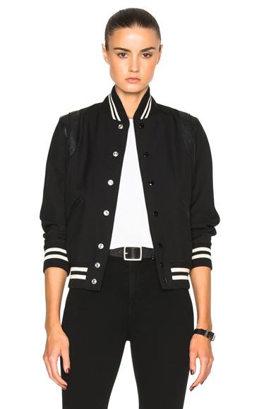 Teddy Gabardine Bomber Jacket
