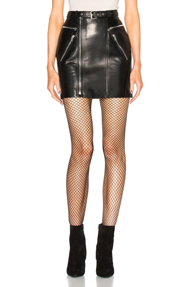80s Leather Motorcycle Skirt