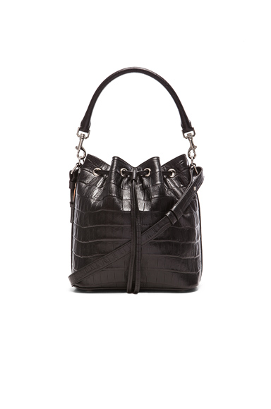 Croc Effect Medium Emmanuelle Bucket Bag