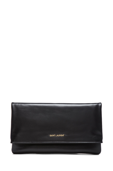 Large Letters Foldover Clutch