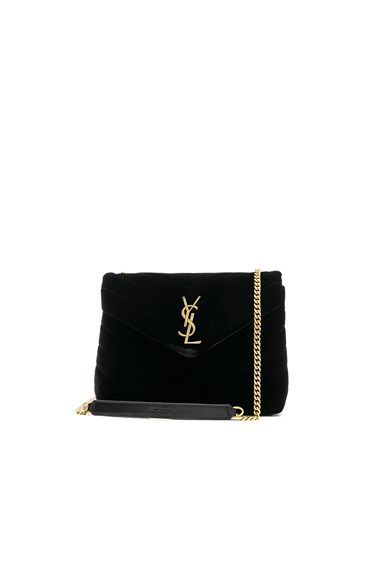 Small Velvet Monogramme Loulou Chain Bag