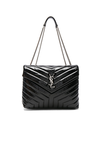 Medium Patent Monogramme Loulou Chain Bag