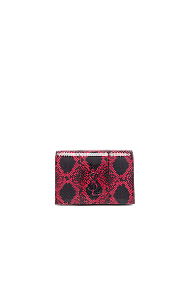Toy Kate Snakeskin Monogramme Strap Wallet Bag