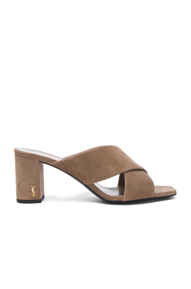 Suede Loulou Mules
