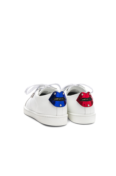 Metallic Lips Patch Court Classic Sneakers