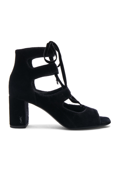 Velvet Loulou Lace Up Pin Heels
