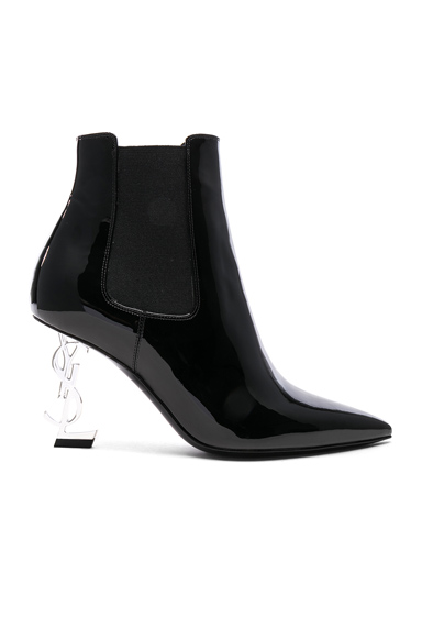 Patent Opium Monogramme Heeled Boots