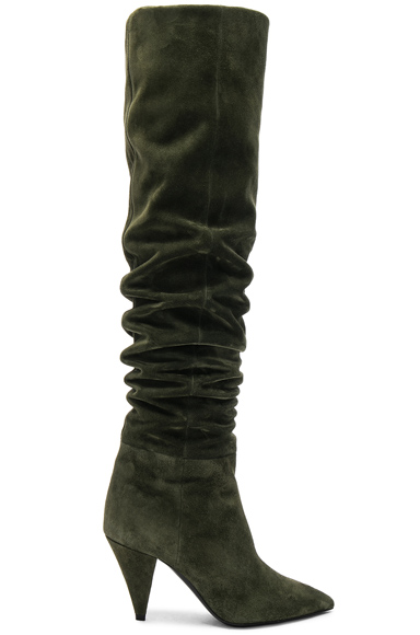 Era Suede Heeled Thigh High Boots