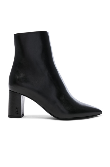 Betty Leather Heeled Pin Ankle Boots