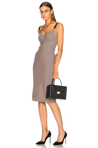 Tai Check Sleeveless Midi Dress