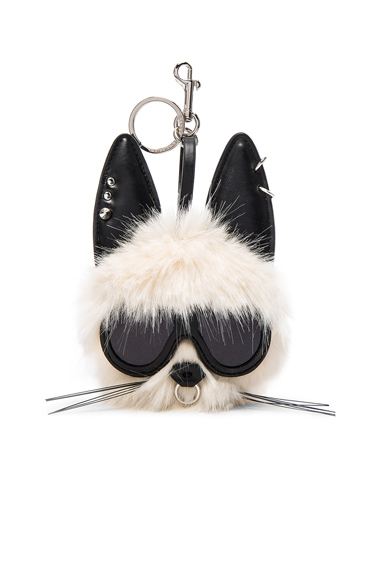 Rabbit Faux Fur Keychain