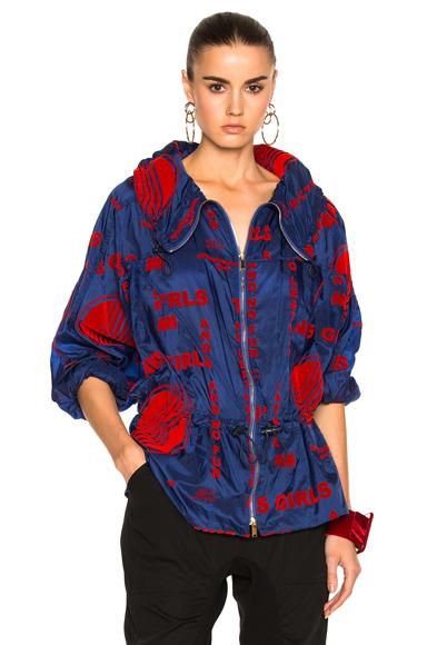 Nylon Flock Print Jacket